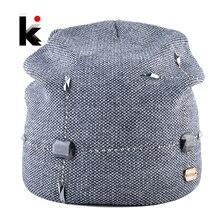 Зимняя шапка женская вязаная шерстяная шапка женская мода шапки со стразами сплошной цвет теплый вязаный шапки для женщин