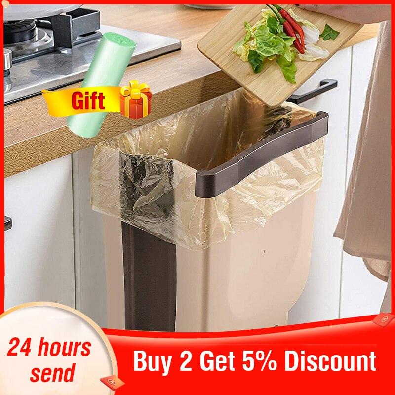 Kitchen Folding Trash Can Car Recycle Bin Trash Bin Kitchen Dustbin Garbage Rubbish Bin Garbage Can Waste Bin For Kitchen