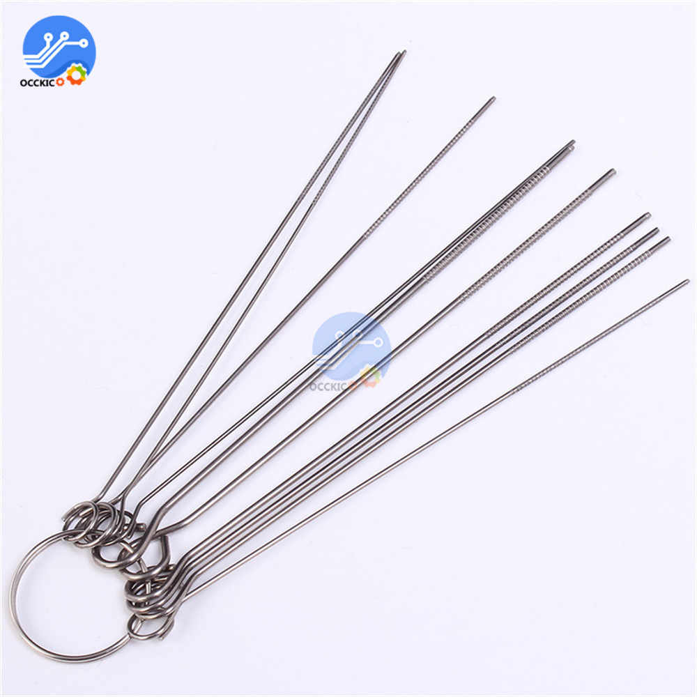 10 Kinds of PCB Electronic Circuit Through Hole Needle Desoldering Welding Repair Tool Stainless Steel Needle Set 80mm 0.7-1.3mm