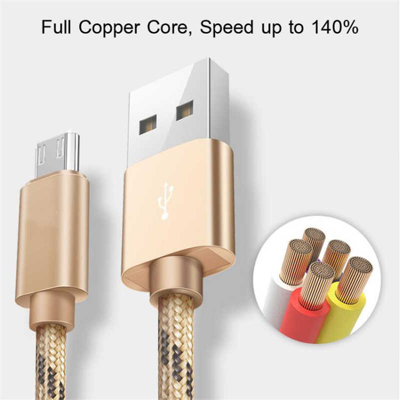 USB Tipe C Kabel 2.4A untuk Xiao Mi Merah Mi Note 7 Mi 9 Cepat Pengisian Data Sync untuk Huawei xiao Mi Samsung Galaxy S9 OnePlus Data Cord