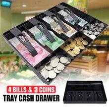 SOLEDI ABS Модный магазин кассовый ящик 3 монеты 4 купюры Гараж продажи стильный кассовый ящик для хранения Замена монета вставка лоток