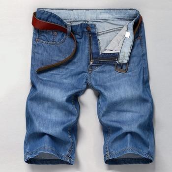 2018 New Style Summer Cowboy Straight-Cut Shorts Men's MEN'S Jeans Fashion Men Fifth Pants Shorts 1