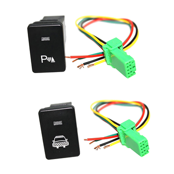 Push Button Switch White LED Parking Light & Headlight with Harnesses For Toyota 4Runner 2010-On image