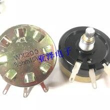 Potenciómetro de doble cable WX200 de alta potencia, 15W, de una sola vuelta, 8 ohm, 8Ω, longitud del eje, atenuador de audio de 15MM