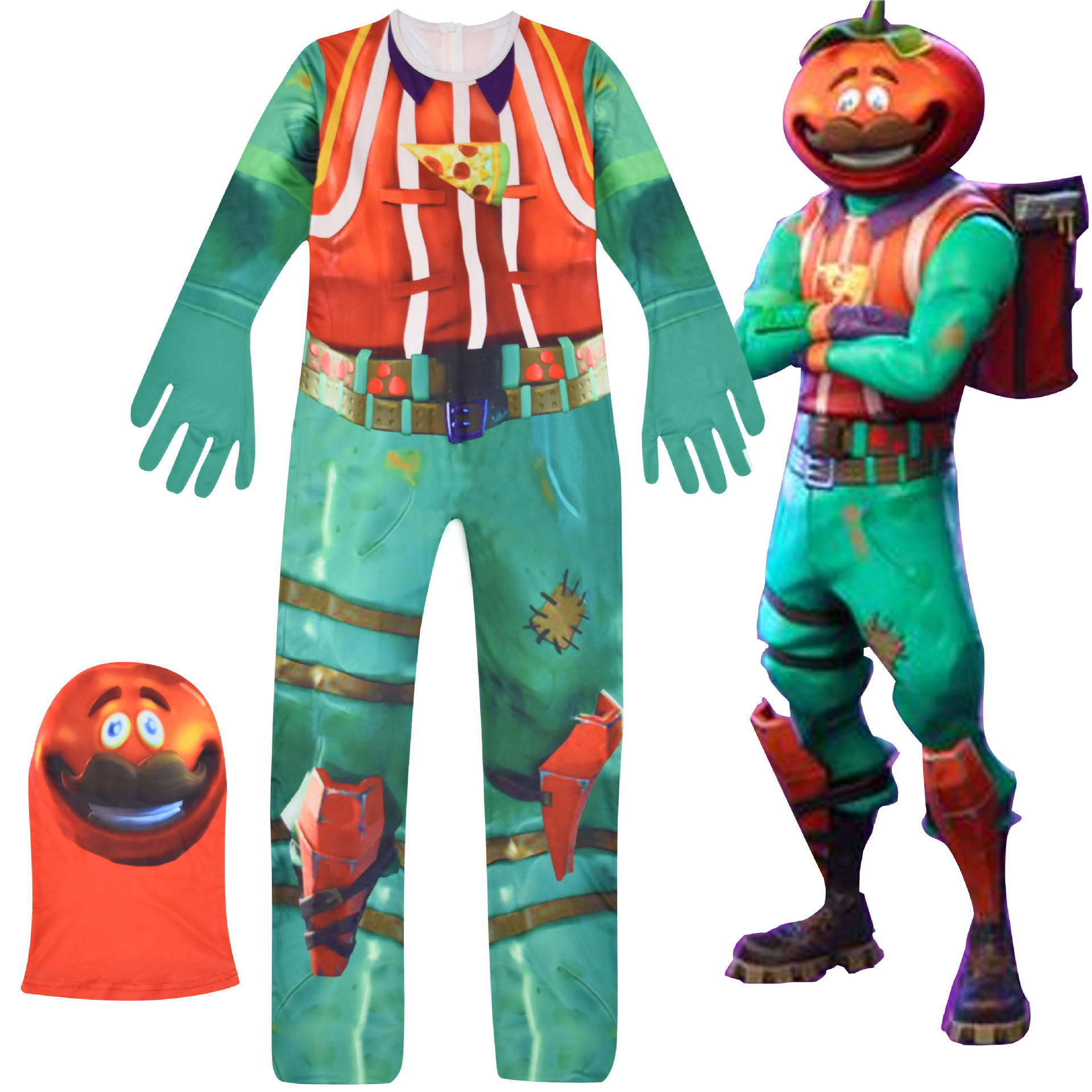 Selling Flytrap Skin Decoration Raven Boy Cosplay Clothes New Year Costume Battle Royale Party Funny Kid Clothing Pumpkin Man