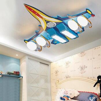 Музыкальный потолочный светильник с bluetooth, мультяшный самолет, дистанционное управление, освещение для гостиной, детской комнаты, украшени...