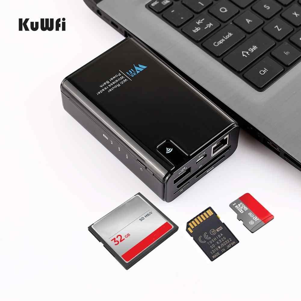 無線 Lan ルータ 6000 5200mah パワーバンク Wifi リピータ RJ45 ポート & ワイヤレスカードリーダー USB ハブ機能ネットワーク外部を格納する