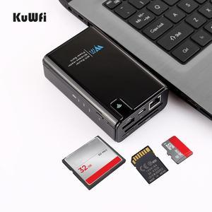 Image 5 - Wifi roteador 6000mah power bank wifi repetidor com porta rj45 & leitor de cartão sem fio usb hub função rede armazenamento externo