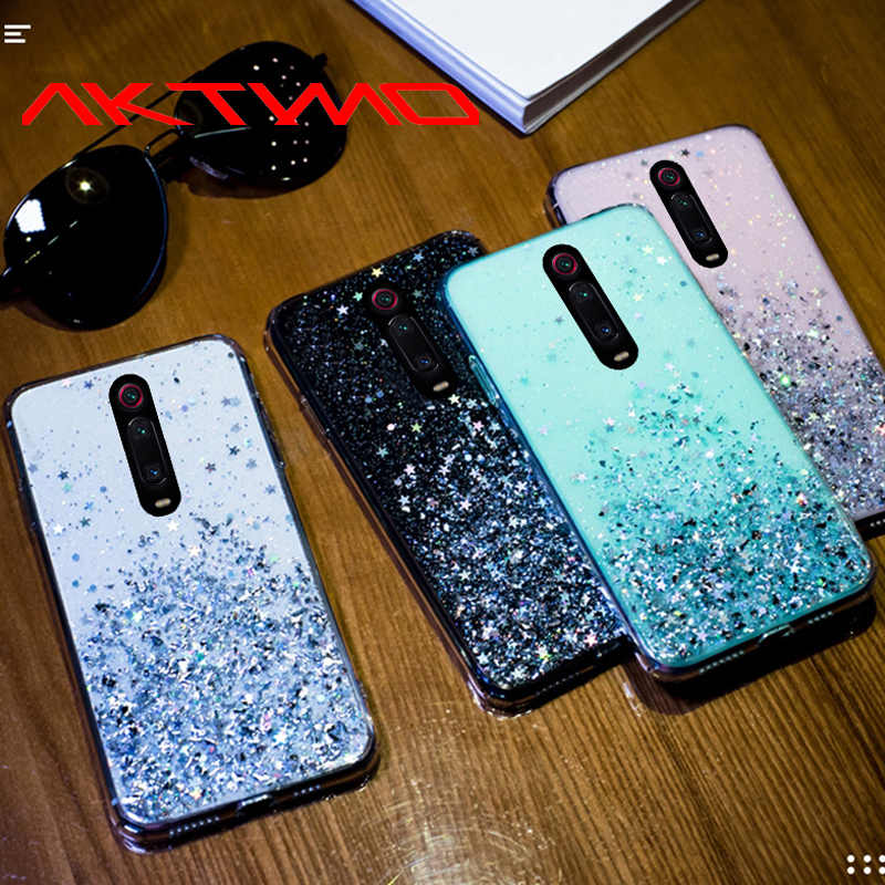 Fashion Bling Glitter Star Soft Silicone Cover For Xiaomi Redmi Note 7 8 8T K20 Pro Mi 5X 6X A1 A2 A3 8 Lite 9 SE CC9 CC9E Case