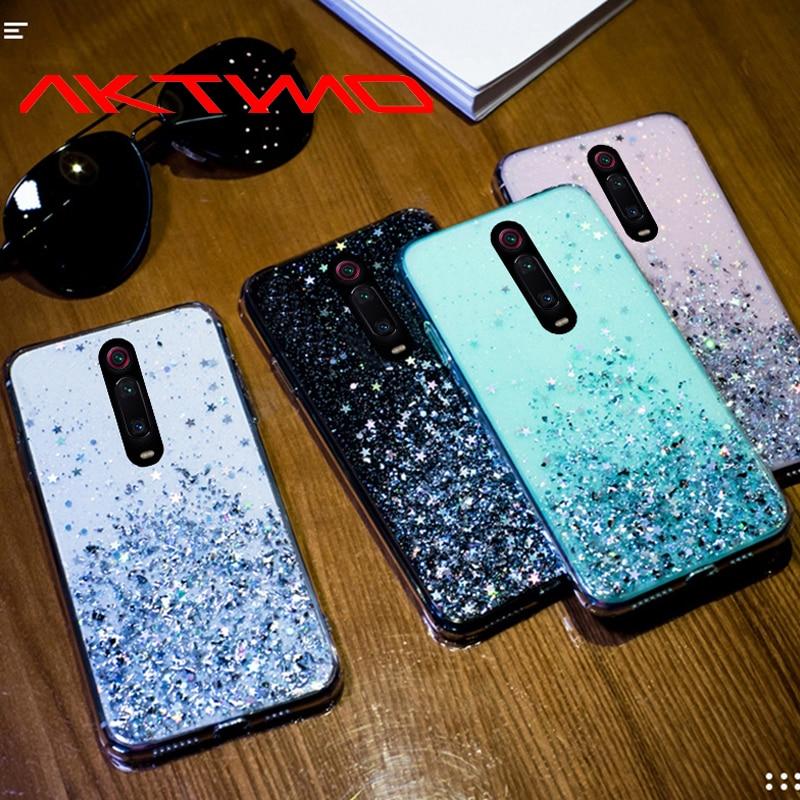 Fashion Bling Glitter Star Soft Silicone Cover For Xiaomi Redmi Note 7 8 8T K20 Pro Mi 5X 6X A1 A2 A3 8 Lite 9 SE CC9 CC9E Case