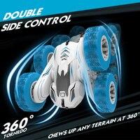 Coche todoterreno teledirigido 4WD 1:16, 50M, 2,4G, rotación de 360 grados, conducción de escalada de doble cara, juguete para chico