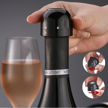 1 3pcs Vacuum Red Wine Bottle Cap Stopper Silicone Sealed Champagne Bottle Stopper Vacuum Retain Freshness Wine Plug Bar Tools cheap CN(Origin) Metal Silver Eco-Friendly Stocked 03F0010 5cm We support