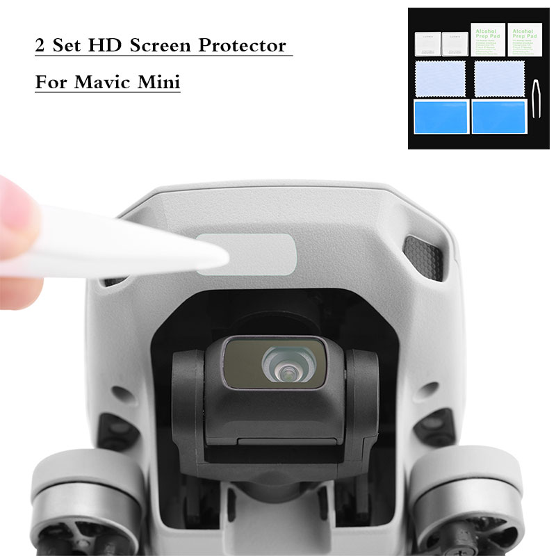 2 Set HD Screen Protector For Mavic Mini Anti-Scratch Tempered Glass Lens Film For DJI Mavic Mini Protective Accessories Kits