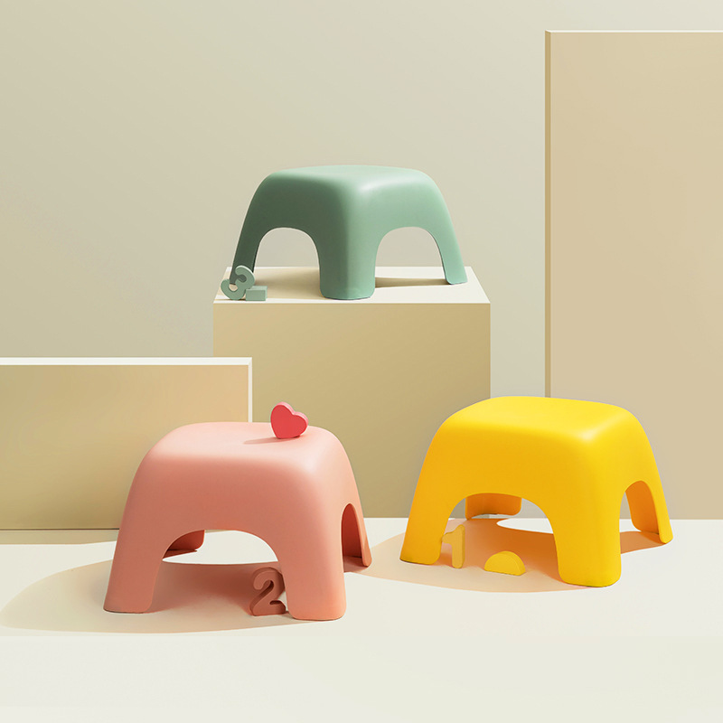 Original Home Chair Children Stool Footboard Bathroom Furniture Children's Stool Toy Sofa Stool Children Chair Candy Color Chair