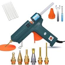 150W Hot Melt Glue Gun Temperature Adjustment 140~220 Degrees Celsius Replaceable Nozzle Use 11mm Glue Stick for Repair Tool DIY