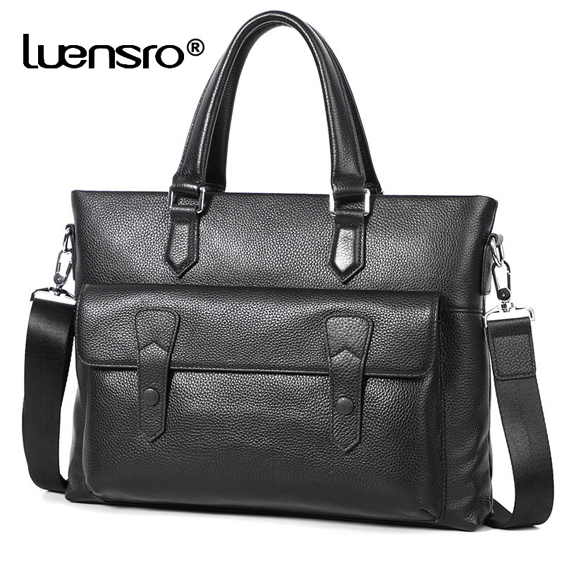 New Designer Men Bag Handbag Genuine Leather Briefcase Bag Tote Casual Shouler Laptop Bags Cross Body For Men Male Briefcases
