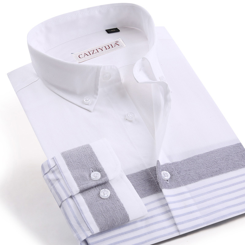 Men's Non Iron Plaid Checkered Striped Shirt Long Sleeve Standard-fit Button-up Casual Cotton Gingham Easy-care Shirts
