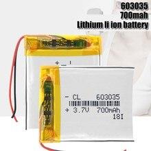 Перезаряжаемый литий-полимерный аккумулятор 3,7 в 603035, защищенный от заряда литий-полимерный аккумулятор PCB, длительный срок службы