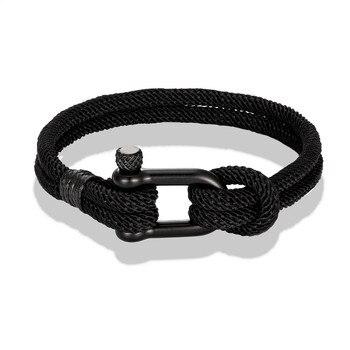 Bracelet Homme Amitié Noir