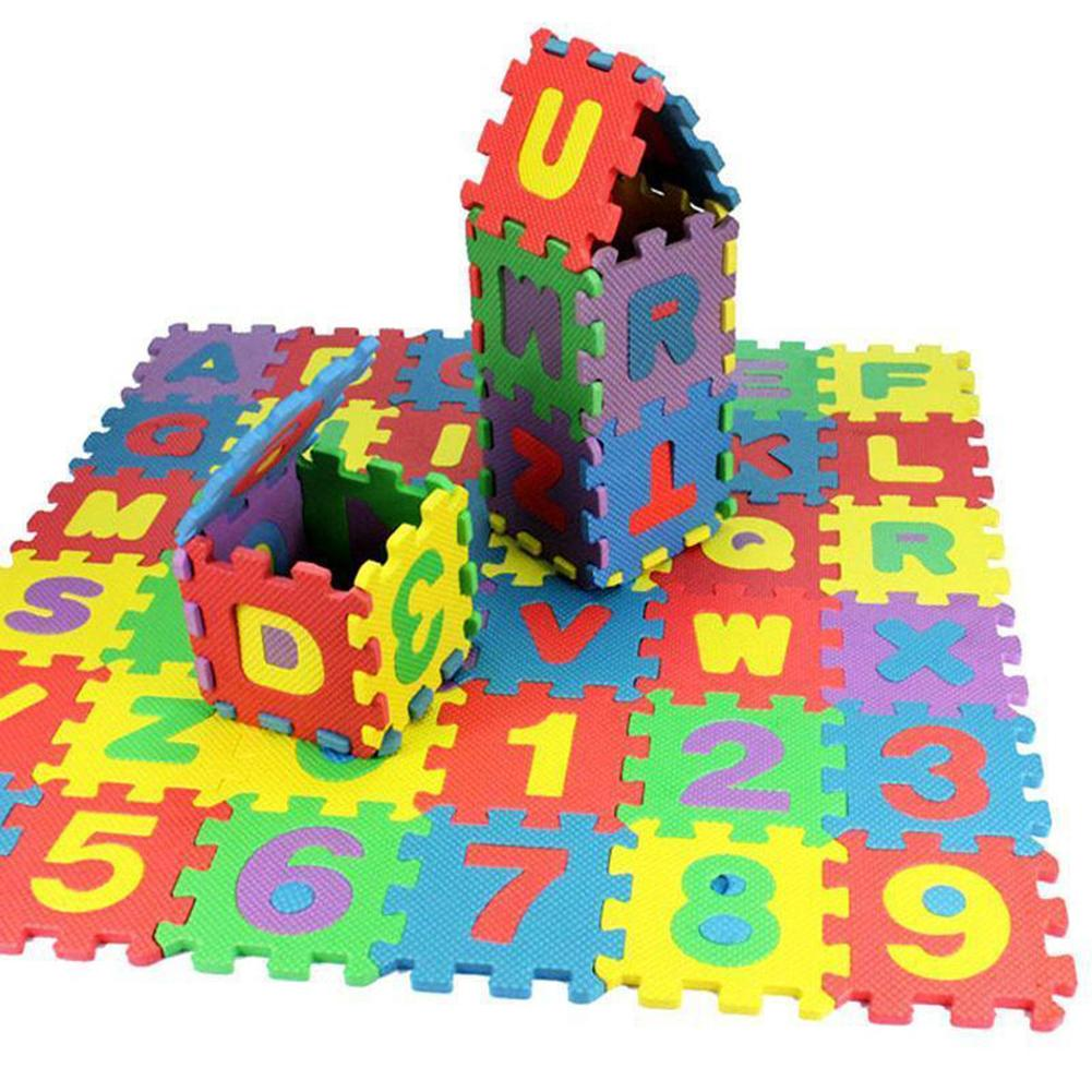 36Pcs/Set Child Kids Novelty Alphabet Number EVA Foam Puzzle Learning Mats Toy Intelligence Developmental Toys Gift For Toddle