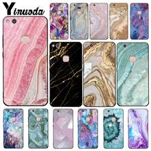 Yinuoda Blue Pink Purple Gemstone Agate Marble crystal Phone Case for Huawei Y5 II Y6II Y5 Y6 Y7Prime Y9 2018 2019(China)
