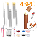 12 Pcs/set Elderly Needle-side Hole Blind Needle Hand Household Sewing Stainless Steel Sewing Needless Threading Apparel Sewing