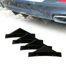 4 шт./компл. Спойлеры для автомобиля SUV задний бампер диффузор Shark Fin комплект Стайлинг спойлер крыло для губ разветвитель универсальные аксе...