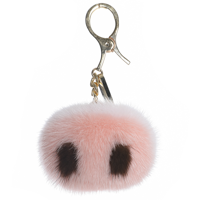 Piglet nose mink fur piglet nose fur bag pendant girly heart key chain car pendant
