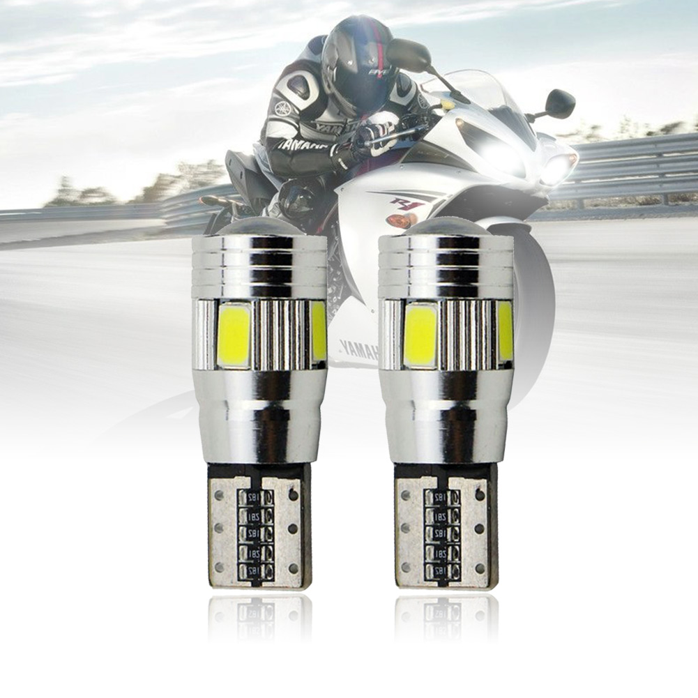 2X T10 W5W Error Free Canbus Projector 6SMD LED Car ParkingLight Bulb White 3