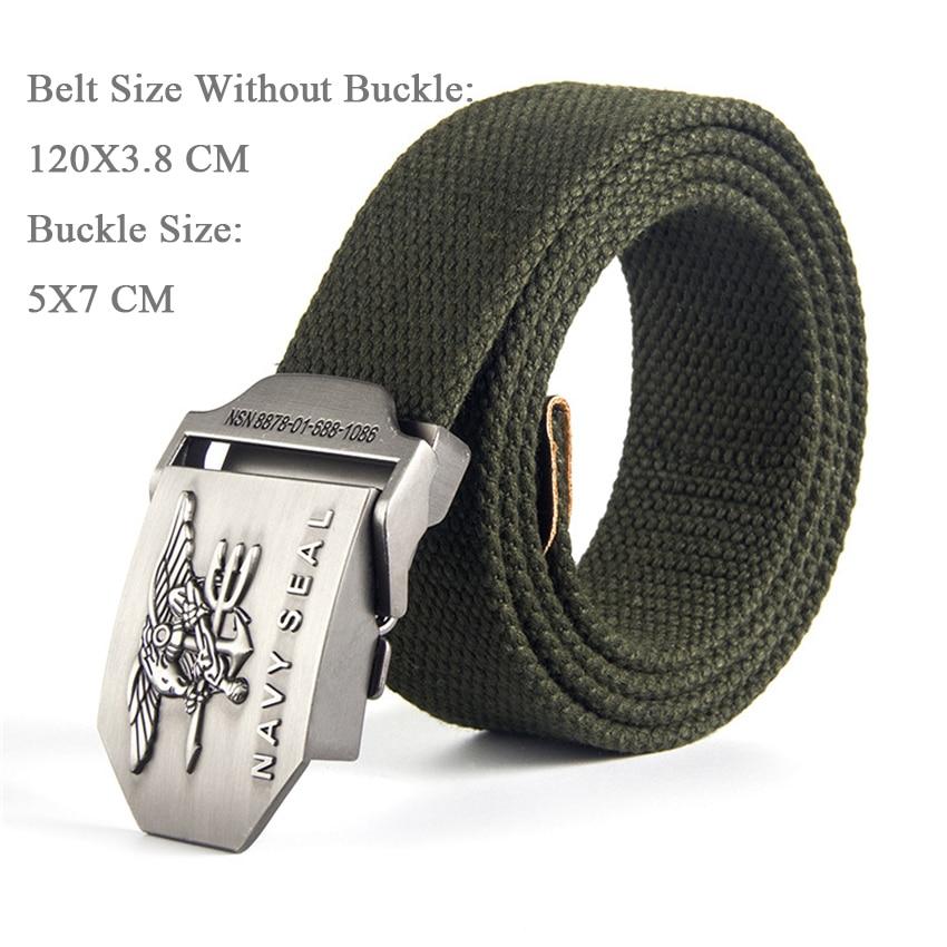 WDYDDW MenS Belt Men/&Women Canvas Belt 3D Soviet Navy Ussr Cccp Metal Buckle Jeans Belt Soldiers Military Army Tactical Belts Male Strap