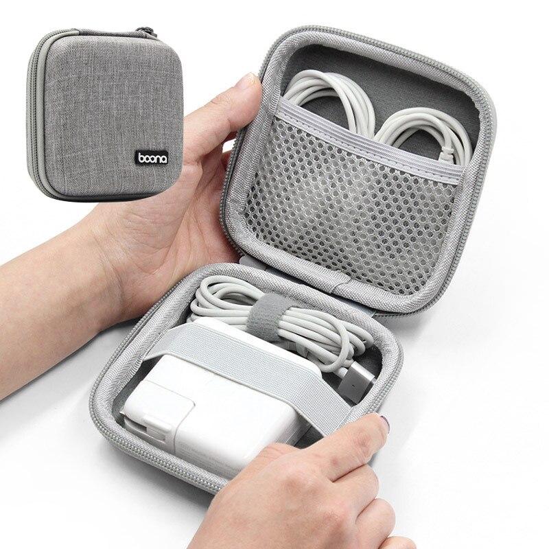 Портативная сумка для хранения наушников, жесткий корпус, чехол для цифровых гаджетов, чехол EVA, сумка для Bluetooth, кабель для передачи данных, ...