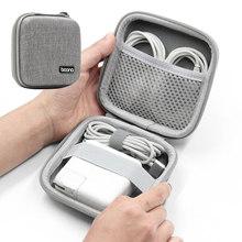 Saco de armazenamento do fone de ouvido portátil casca dura gadgets digitais caso eva bluetooth saco cabo dados mac carregador u disco capa protetora