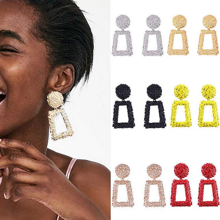 Elegante y moderno, pendientes de oro para las mujeres grande pesado africanos pendientes atrevidos joyería de moda 2020