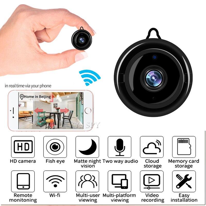 Sensor de Movimento de Vídeo Vigilância em Casa Mini Câmera Wifi Inteligente Auto Ir-corte Visão Noturna hd Secreto Micro Cam ip P2p Segurança Webcam