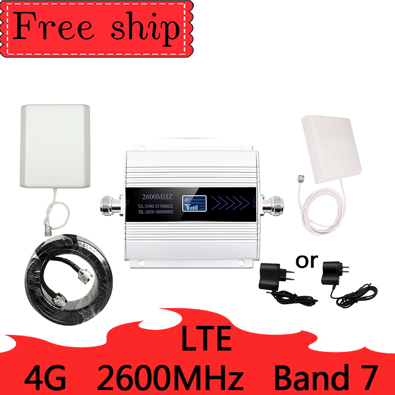 2600mhz  LTE 4G Cellular Signal Booster 4G Mobile Network Booster Data Cellular Phone Repeater  Amplifier  9dbi Antenna Band 7