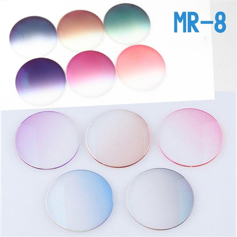 Vazrobe asphérique 1.61 1.67 MR-8 résine verres verres dégradé marron gris bleu violet lentille revêtement UV400 anti-rayures