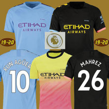 19 20 soccer jersey JESUS DE BRUYNE KUN AGUERO MAHREZ G.JESUS BERNARDO SANE 2019 adults city Football shirt MENDY WALKER SILVA(China)