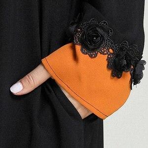 Image 5 - 黒女性イスラム教徒長袖マキシドレスイスラムカフタンドバイパーティートルコ Abayas ラマダンローブカクテル Jilbab アラブ