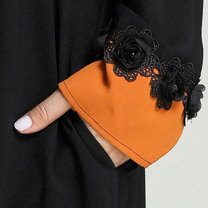 Image 5 - Black Abaya Women Muslim Long Sleeve Maxi Dress Islamic Kaftan Dubai Party Gown Turkish Abayas Ramadan Robe Cocktail Jilbab Arab