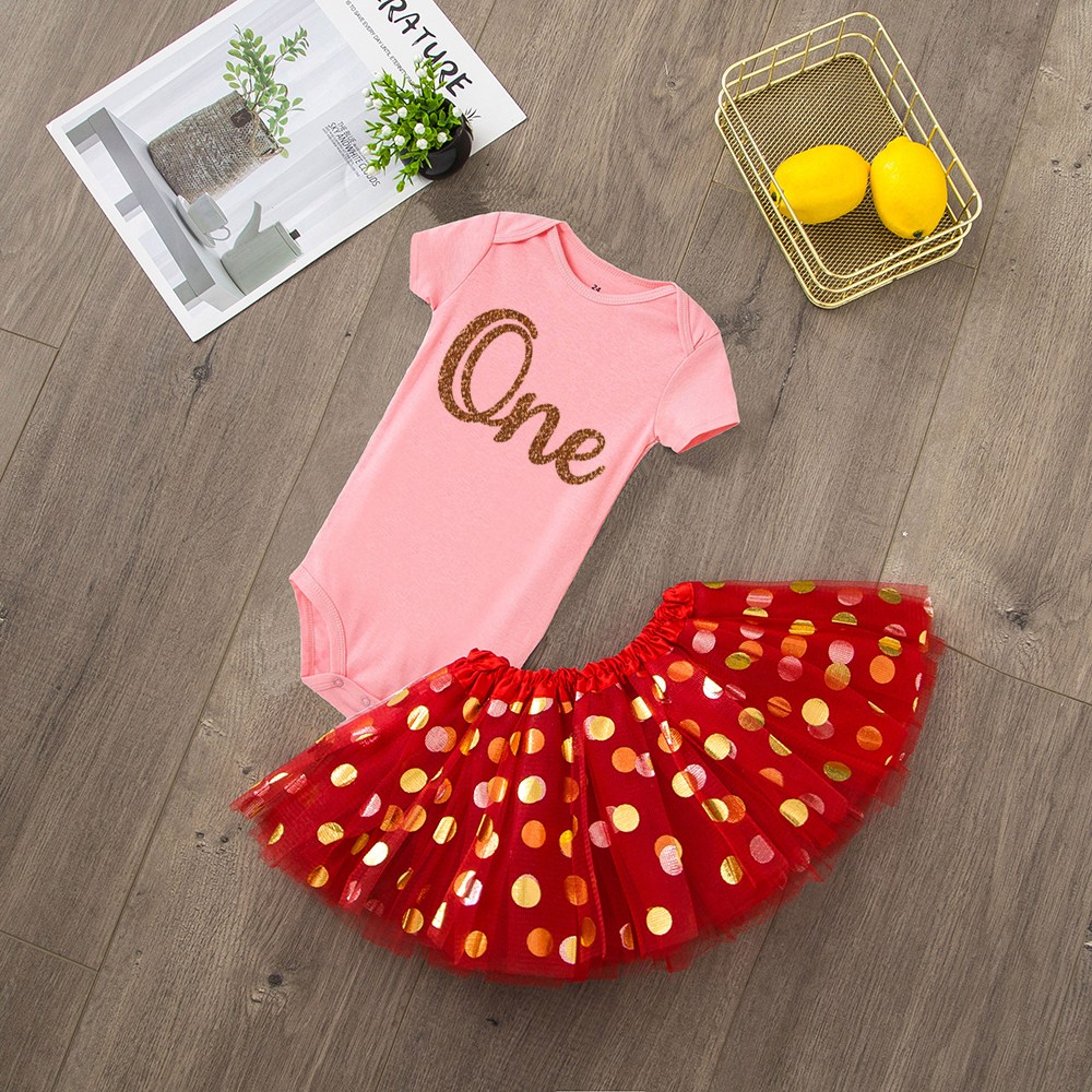 ONEderful Birthday Pink Gold Outfit 1st Birthday Party Girls Outfits Cake Smash Tutu+baby Bodysuits Summer Set Fashion Wear 11