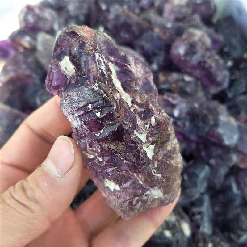 1 pc, 80g-100g cristal naturel brut Quartz graviers améthyste cristal pierres dégringolées baguette pour 7 Chakra guérison - 3