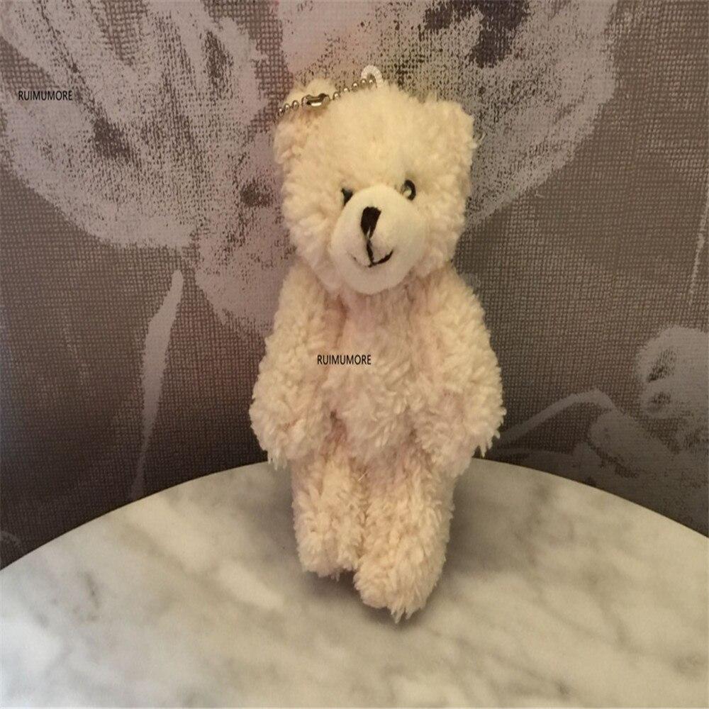 3 размера, милый медведь кукла Мягкие плюшевые игрушки, брелок подарки мягкие и плюшевые животные плюшевые игрушки - Цвет: 11cm