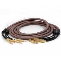 Par de alta gama Accuphase OCC cable de altavoz de cobre puro bi-wire, cable de altavoz de audiófilo, Conector de banana chapado en oro
