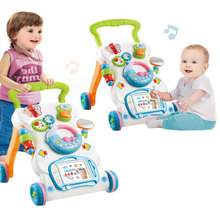 Baby Walker New Multifuctional Stroller Toddler Trolley Sit-to-Stand Musical Walker Adjustable Anti-rollover Baby Activity Suppl
