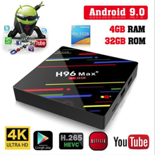 H96 Max+ MaX Plus Smart TV Box RK3328 Quad Core 64bit Mali-450 GPU 4G/64G Android 9.0 2.4G/5.0GHz Wifi Set Top Box Family TV xiaomi mi box s 4k tv box cortex a53 quad core 64 bit mali 450 android 8 1 2gb 8gb hdmi2 0 2 4g 5 8g wifi bt4 2 tv box