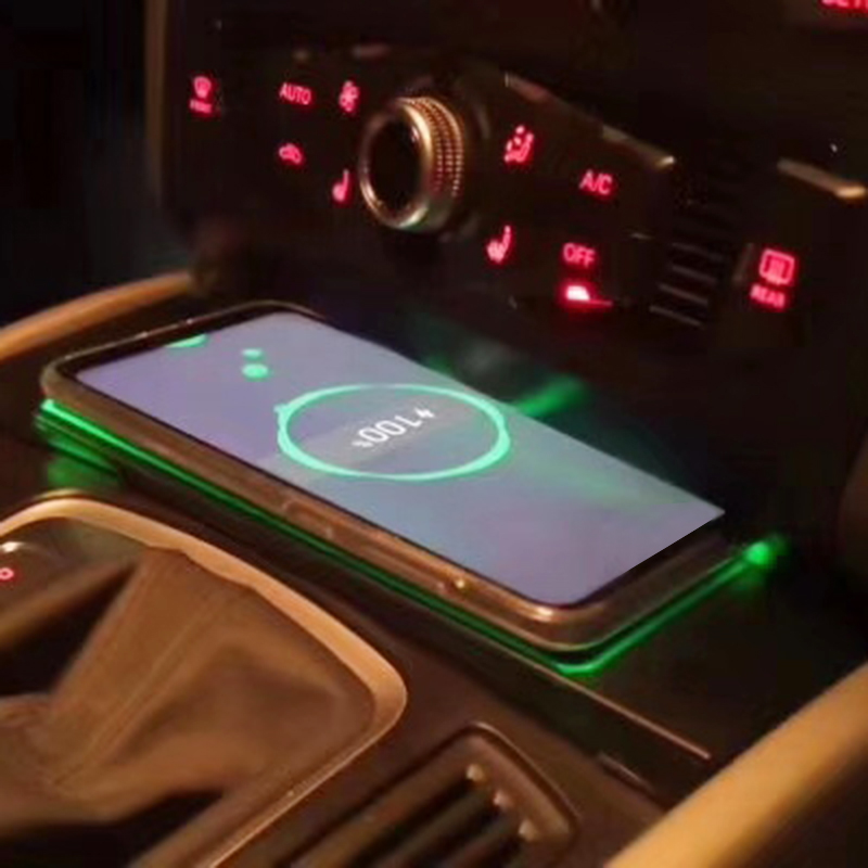 10W car QI wireless charging phone charger for Audi Q5 2009 2010 2012 2013 2014 2015 2016 2017 2018 charging plate phone holder