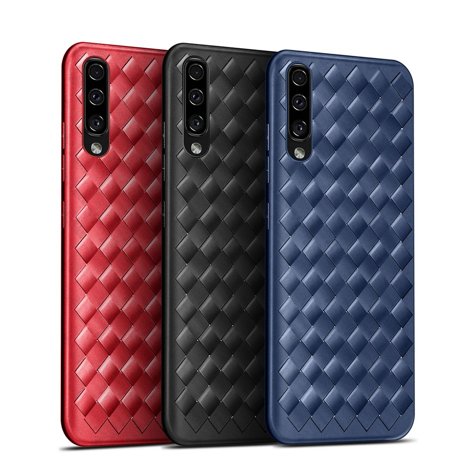 For <font><b>Samsung</b></font> <font><b>Galaxy</b></font> <font><b>A50</b></font> A 50 Silicone Case Soft Back Cover TPU Phone Cases For <font><b>Samsung</b></font> <font><b>A50</b></font> <font><b>A505F</b></font> 2019 Luxury Weaving Phone Shell image