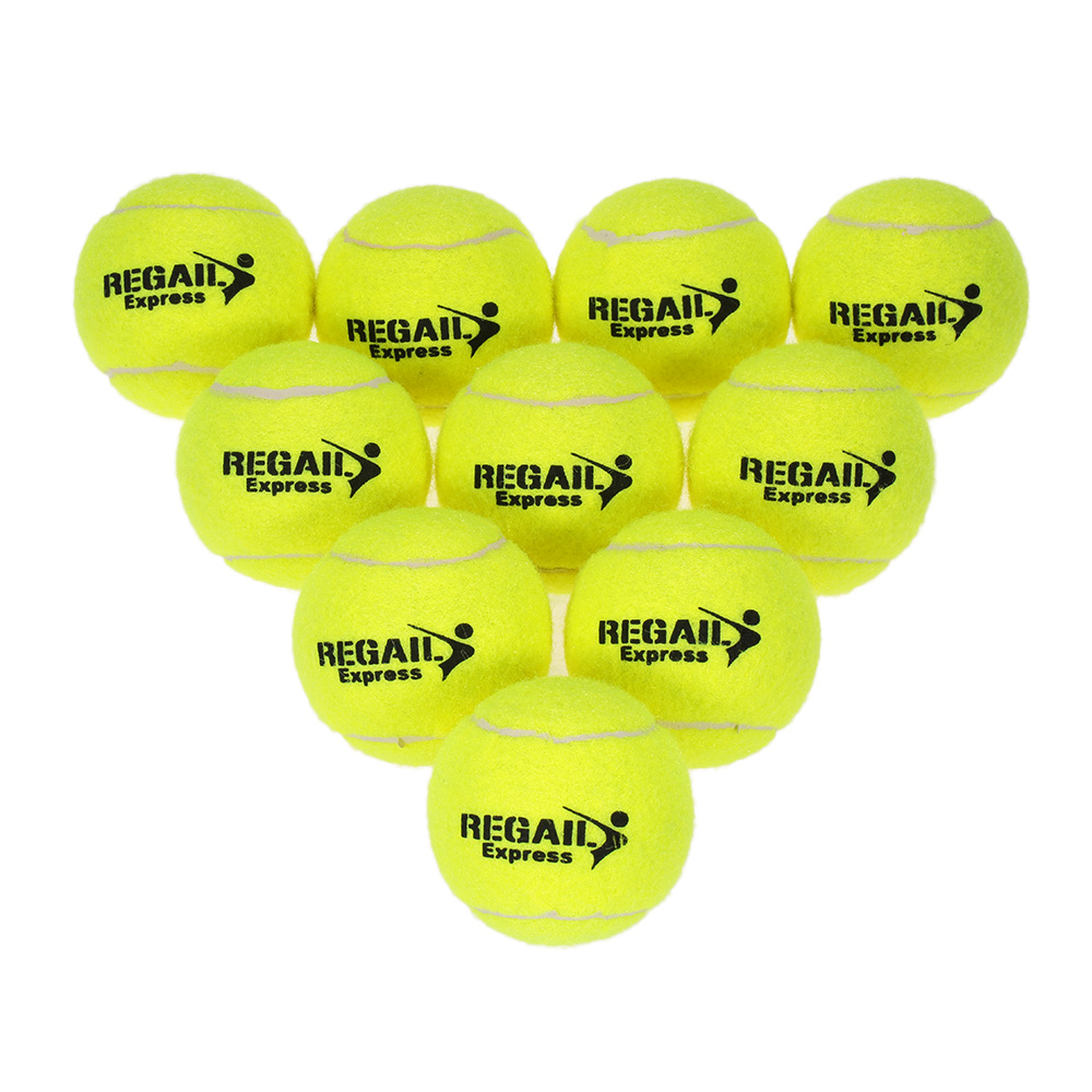 10PCS Tennis Balls Rubber Training Tennis Balls for Kids Women Tennis High Resilience Training Exercise Practice Tennis Ball
