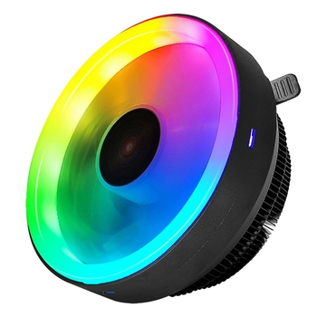 COOLMOON RGB CPU Cooler, Silent Down-Pressure LED CPU Fan Suitable for and ADM PC Processor Desktop Cooler image