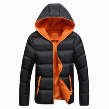 New Winter Couple Jacket Coats Casual Men's Hooded Parka Men Cotton Padded Jacket Plus Size 4XL все цены